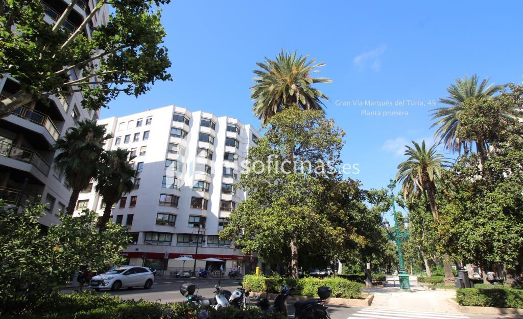 Oficina en alquiler en Calle Gran Vía Marques Del Turia 49, Pl.1 1 de 15 metros en ValenciaVista exterior frontal