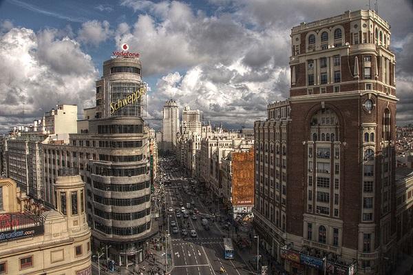Vista panorámica del centro de Madrid