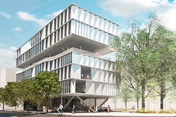 Edificio del futuro campus de la Escuela de Diseño LCI Education en el 22@ en Barcelona