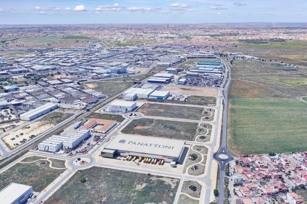 Imagen aérea del desarrollo de Panattoni en el Polígono Industrial Los Palillos, Sevilla